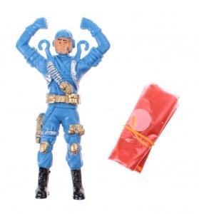 Toi-Toys Fallschirmspringer Kommandant blau 11 cm