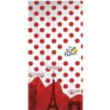 Tour De France badlaken 70 x 140 cm wit/rood