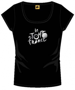 Tour De France T-Shirt Dames Met Logo Zwart