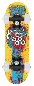 Xootz Mini skateboard 44 cm junior geel