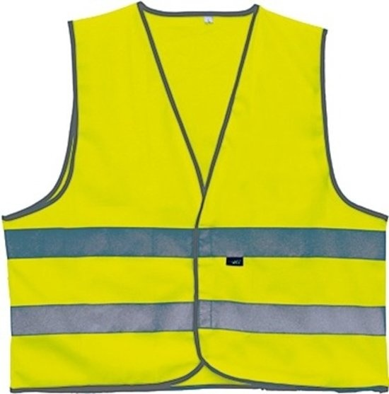 4 Act Veiligheidshesje 2 Strepen Unisex Geel Maat XL