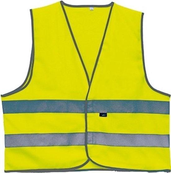 4 Act Veiligheidshesje 2 Strepen Unisex Geel Maat M