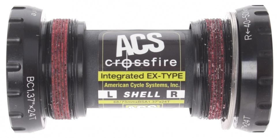 Afbeelding van ACS bottom bracket Crossfire BSA 73 x 68 mm zwart