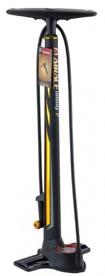 Airace fietspomp met barometer Infinity 75 cm zwart