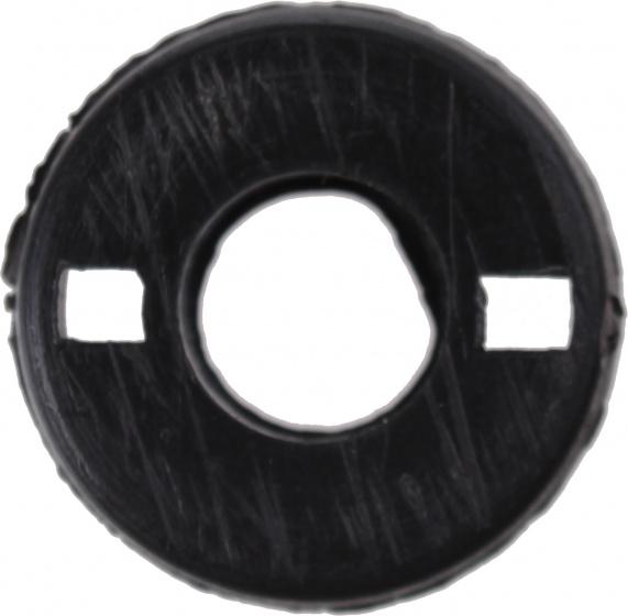 TOM afdekplaatje voor veer cantilever zwart per stuk