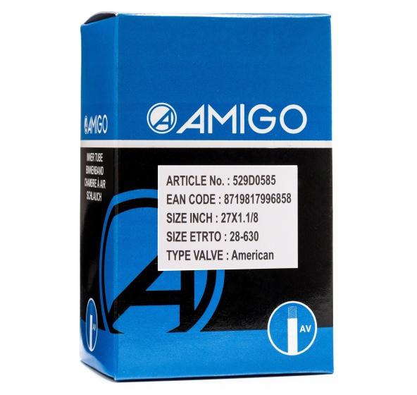 AMIGO Binnenband 27 x 1 1/8 (28 630) AV 48 mm Sport>Fietsen>Fiets Onderdelen & Accessoires aanschaffen doe je het voordeligst hier