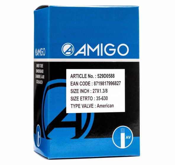 AMIGO Binnenband 27 x 1 3/8 (35 630) AV 48 mm Sport>Fietsen>Fiets Onderdelen & Accessoires aanschaffen doe je het voordeligst hier