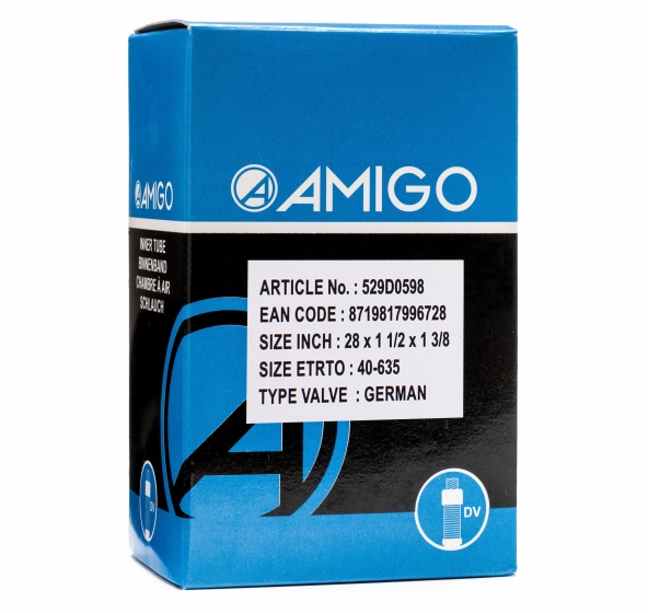 AMIGO Binnenband 28 x 1 1/2 x 1 3/8 (40 635) DV 42 mm