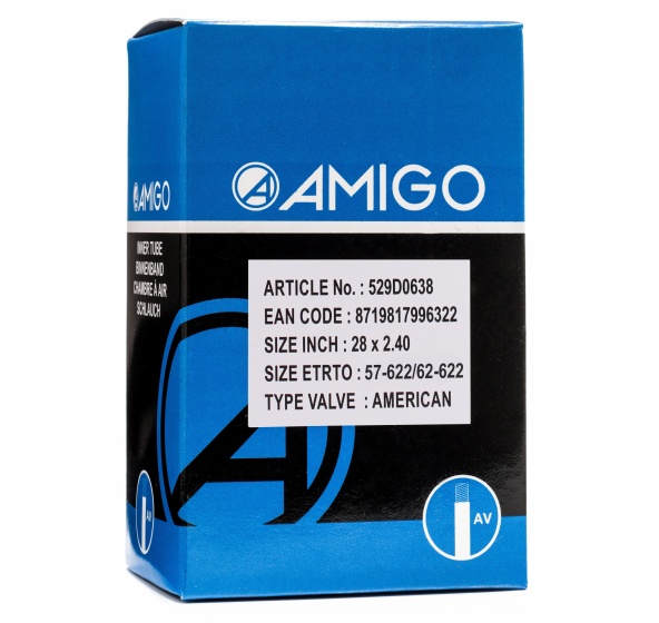 AMIGO binnenband 28 x 2.40 (57 622/62 622) AV 48 mm