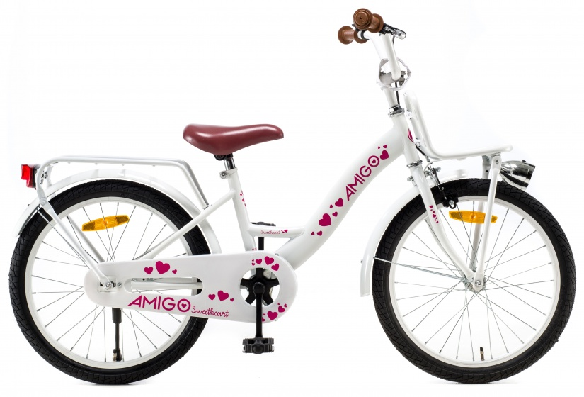 AMIGO Sweetheart 20 Inch 29 cm Meisjes Terugtraprem Wit