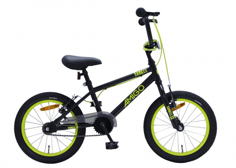 Amigo Bmx Danger-s2 16 Inch 25,4 Cm Junior V-brakes Zwart/geel online kopen