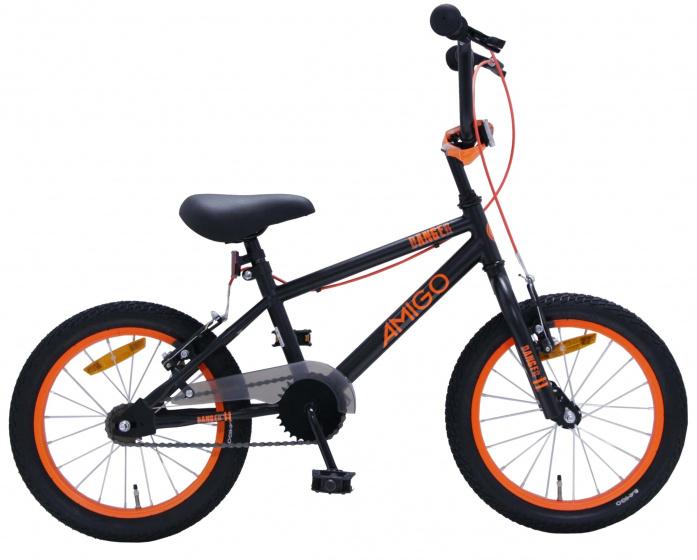 Amigo Bmx Danger 16 Inch 25,4 Cm Junior V-brakes Zwart/oranje online kopen