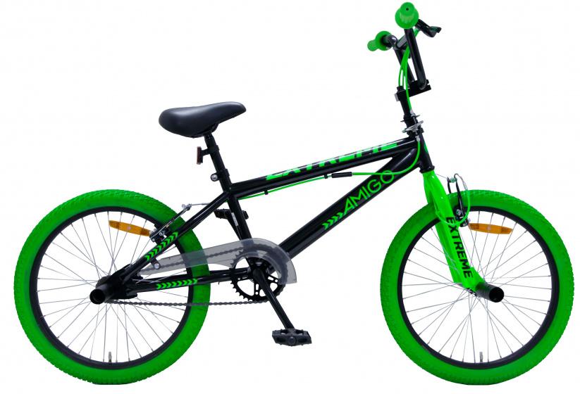 Amigo Bmx Extreme 20 Inch 29 Cm Unisex V-brakes Zwart/groen online kopen