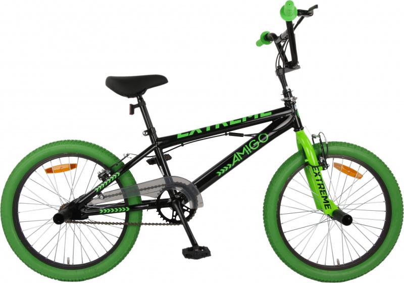 Amigo Extreme BMX fiets 20 inch Fietscross voor jongens en meisjes Zwart/Groen online kopen