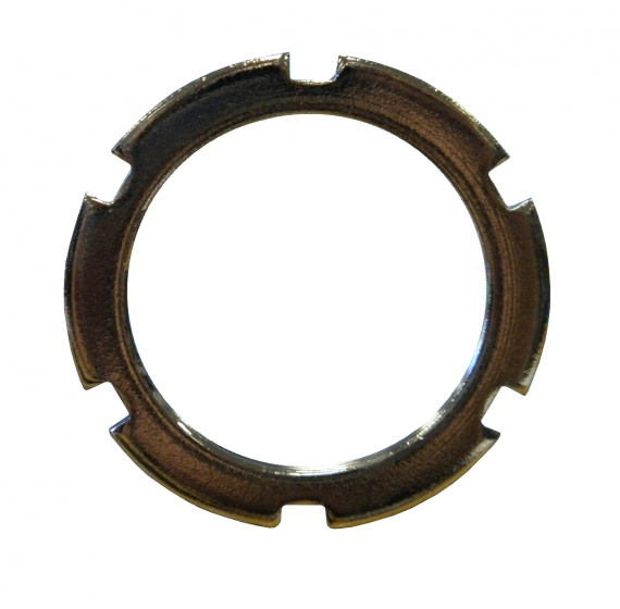TOM contramoer bracket links 34 mm zilver