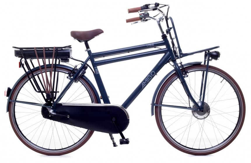 Amigo E-Pulse Elektrische transportfiets voor heren Met 3 versnellingen Matblauw online kopen