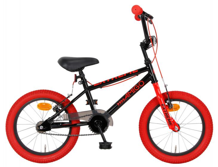 Amigo Extreme 16 Inch 25,4 Cm Junior V-brakes Zwart/rood online kopen