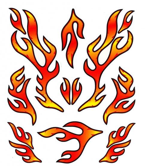 TOM fietsstickers STK. Red Flames rood