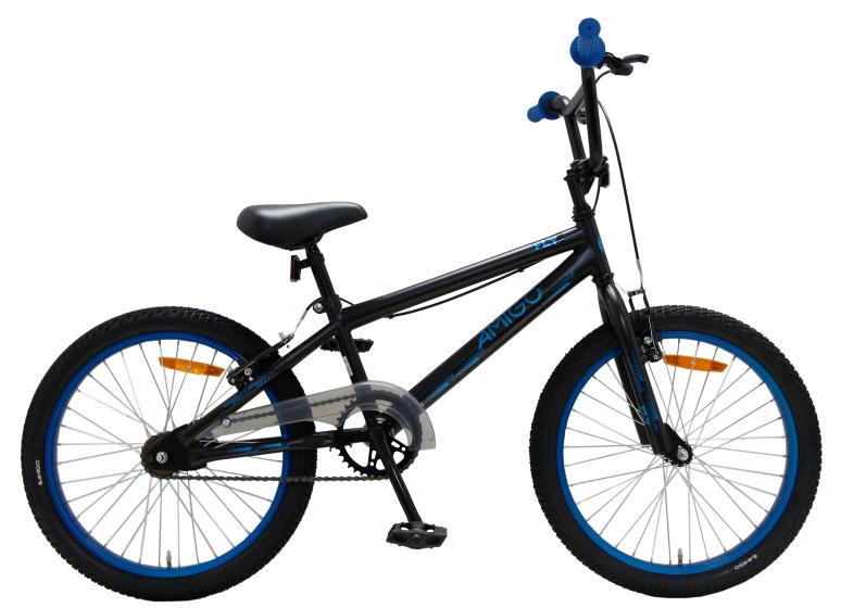 Amigo Fly BMX fiets 20 inch Fietscross voor jongens en meisjes Zwart/Blauw online kopen