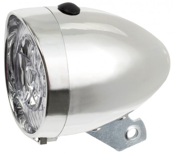 TOM Koplamp LED batterij zilver