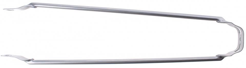 TOM spatbordstang 28 inch staal zilvergijs per stuk