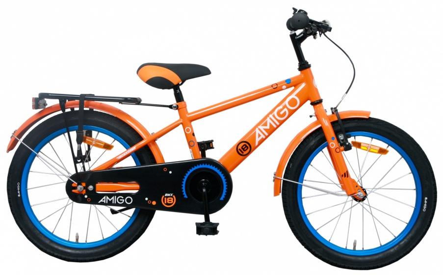 AMIGO Sports 20 Inch 28 cm Jongens Terugtraprem Oranje