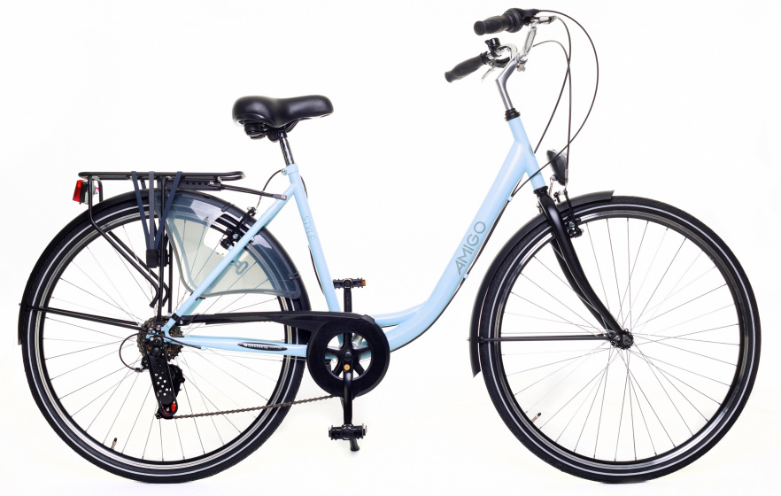 AMIGO Style S3 28 Inch 50 cm Dames 6V V Brakes Lichtblauw