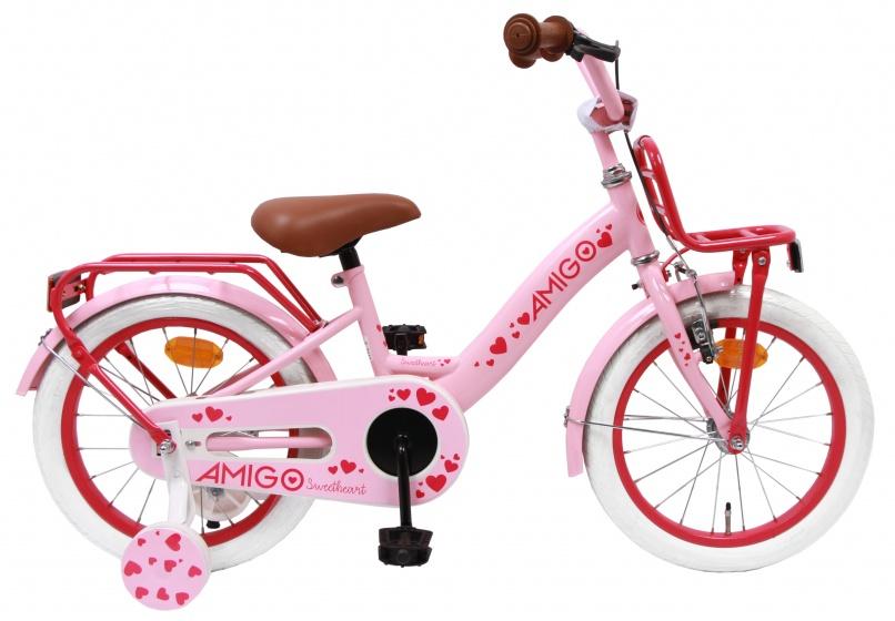 AMIGO Sweetheart 16 Inch 24 cm Meisjes Terugtraprem Roze