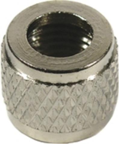 TOM ventielbovenmoer HV zilver