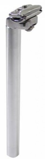 TOM zadelpen vast 28,6 x 290 mm aluminium zilver