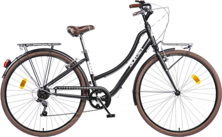 Aurelia Smart City 28 Inch 43 cm Dames 6V V Brake Zwart