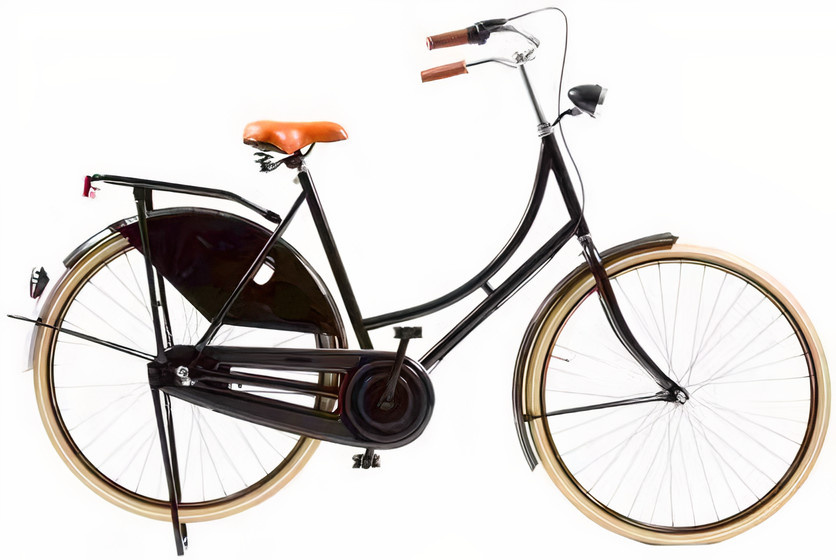 Avalon Classic De Luxe 28 Inch 57 cm Dames 3V Trommelrem Zwart