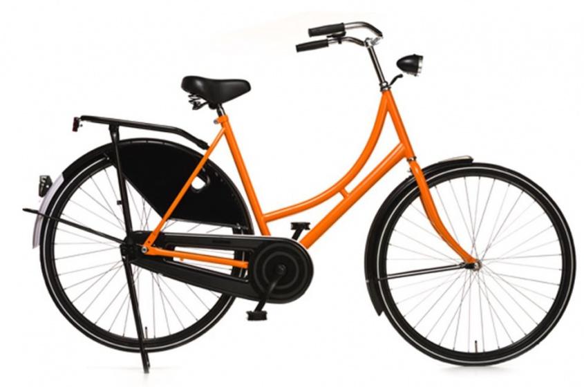 Avalon Oma Export 28 Inch 57 cm Dames Terugtraprem Zwart/Oranje