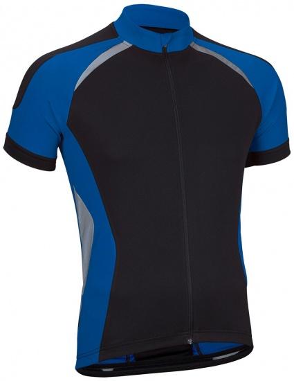 Avento fietsshirt heren polyester zwart/blauw maat S