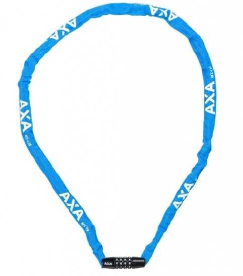 AXA Kettingcijferslot Rigid RCC nylon hoes 1200 x 3,5 mm blauw