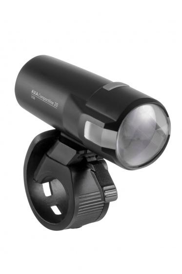 AXA koplamp Compactline 20 Lux zwart