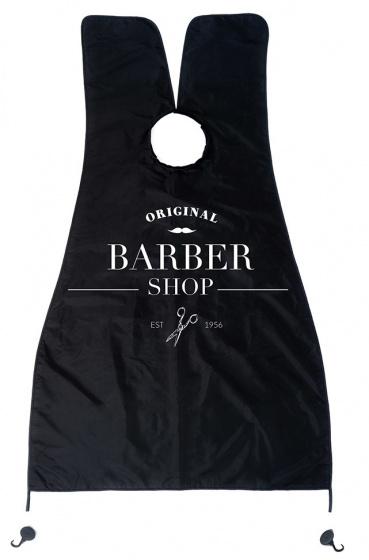 Balvi kappersschort 130 x 80 cm polyester zwart/wit