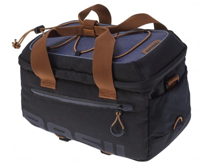 Basil bagagedragertas Miles Topcase 7L zwart