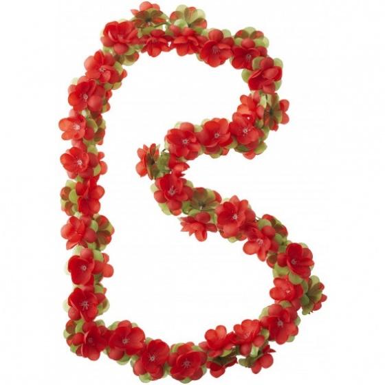Afbeelding van Basil Bloemenstreng Flower Garland 120 cm rood