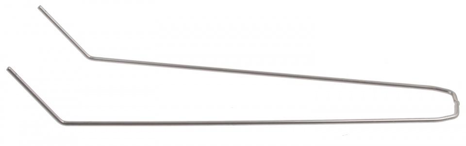 Batavus spatbordstang staal gebogen 28 inch zilver per stuk