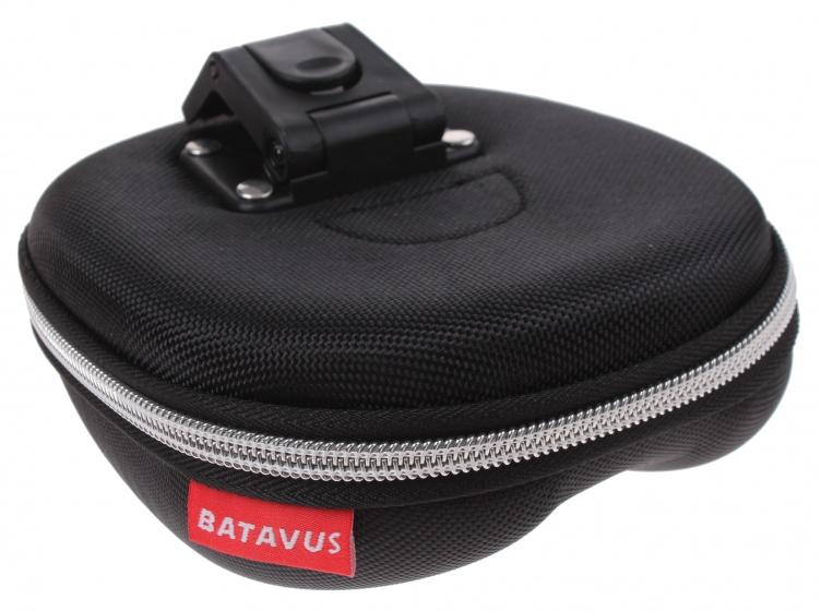 Batavus zadeltas met inhoud Klick zwart 1,3 liter