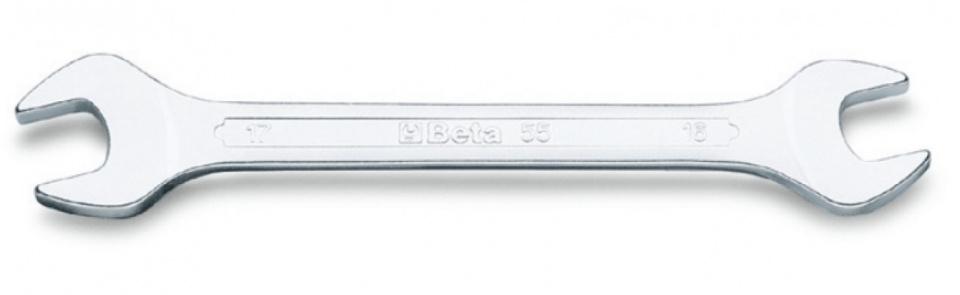 Beta dubbele steeksleutel 55 140 mm 6 x 7 mm zilver