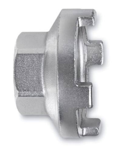 Beta freewheelsleutel 3984/1 staal 35 mm 4 noks zilver