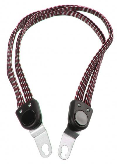 Bibia snelbinder Quattro Strong 6 mm 61 cm zwart/rood
