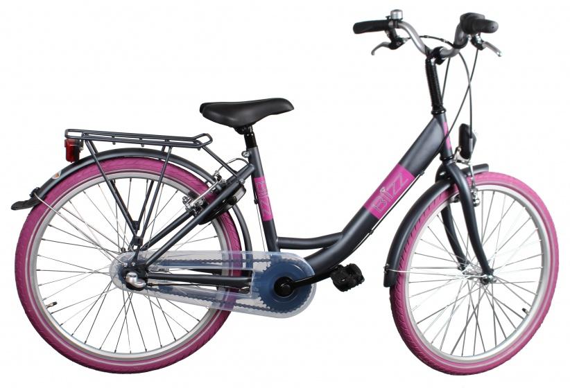 Bike Fun Blizz 24 Inch 39 cm Meisjes 3V V Brake Matgrijs