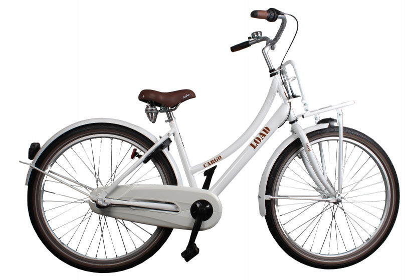 Bike Fun Cargo Load 26 Inch 43 cm Meisjes 3V Terugtraprem Wit