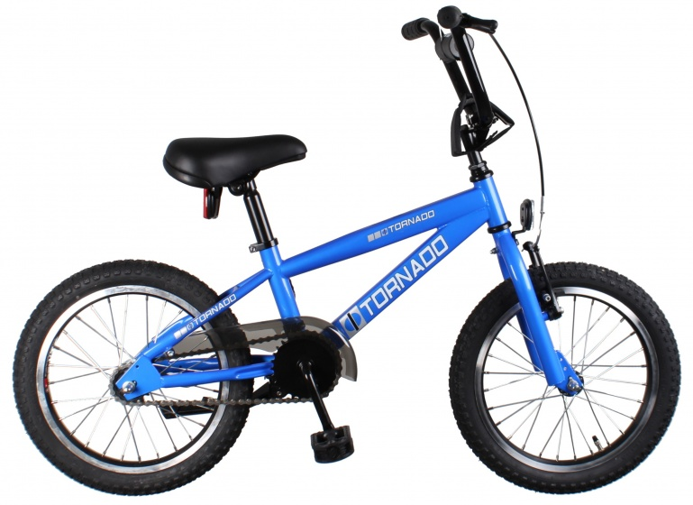 Bike Fun Cross Tornado 16 Inch 34 cm Junior Terugtraprem Blauw