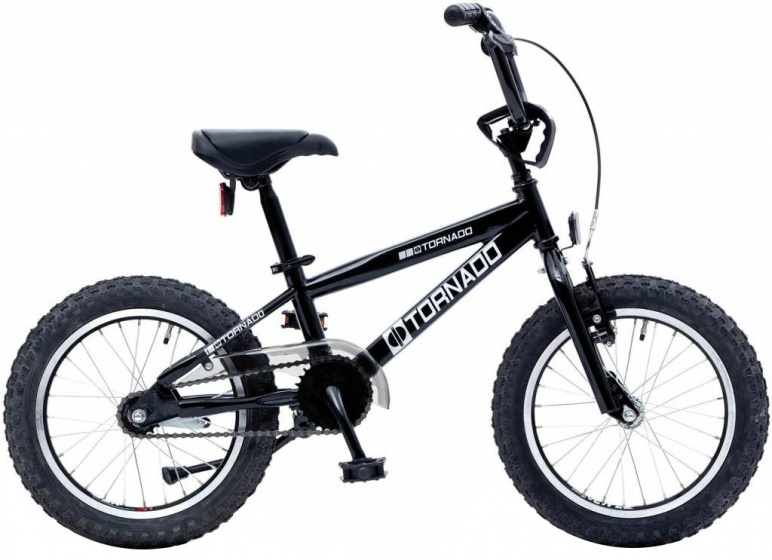 Bike Fun Cross Tornado 16 Inch 34 cm Junior Terugtraprem Zwart