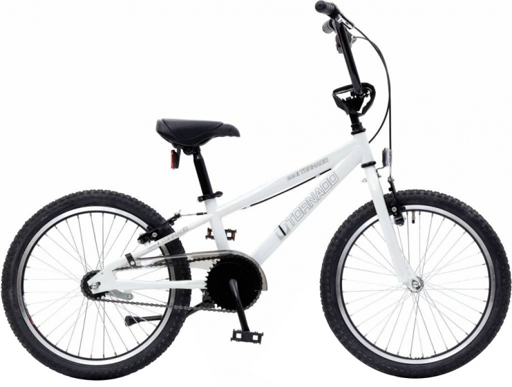 Bike Fun Cross Tornado 20 Inch 26 cm Junior Terugtraprem Wit