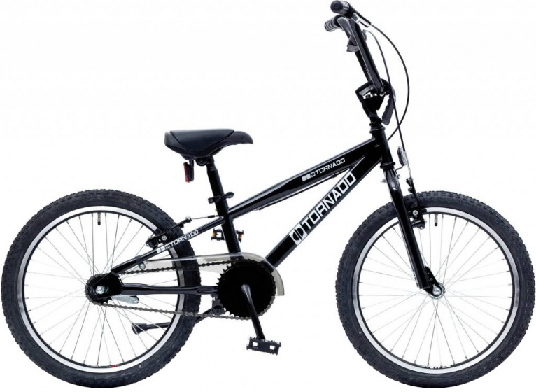 Bike Fun Cross Tornado 20 Inch 26 cm Junior Terugtraprem Zwart